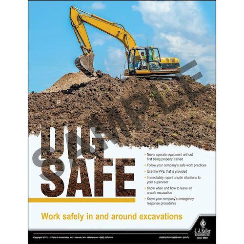 Dig Safe - Construction Safety Poster (012222)