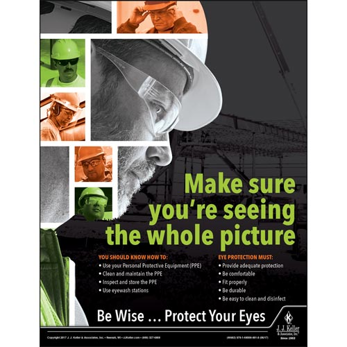 Protect Your Eyes - Construction Safety Poster (010844)