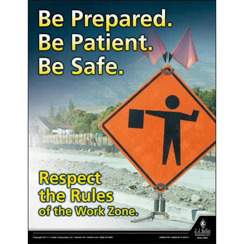 Work Zones - Driver Awareness Safety Poster (012223)
