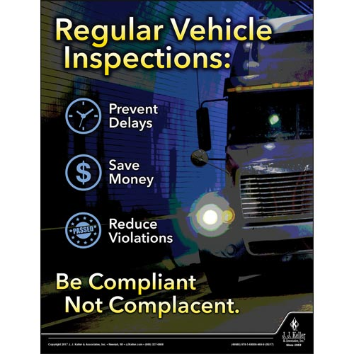 Vehicle Inspections - Driver Awareness Safety Poster (012224)
