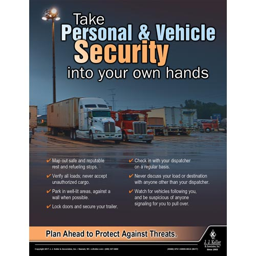 Vehicle Security - Driver Awareness Safety Poster (012225)