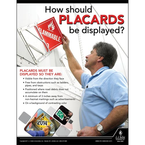 How Should Placards Be Displayed - Hazmat Transportation Poster (012233)