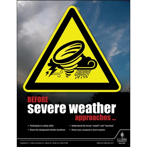 Before Severe Weather Approached - Workplace Safety Advisor Poster (012243)