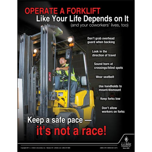 Operating A Forklift - Workplace Safety Advisor Poster (012244)