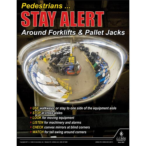 Pedestrians Stay Alert - Workplace Safety Advisor Poster (012245)
