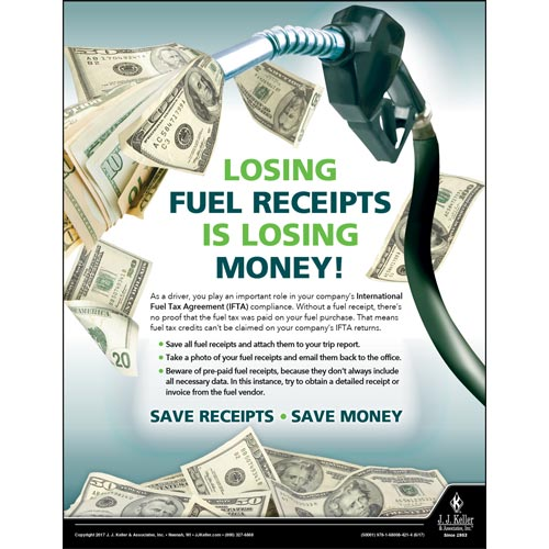 Losing Fuel Receipts - Motor Carrier Safety Poster (012325)