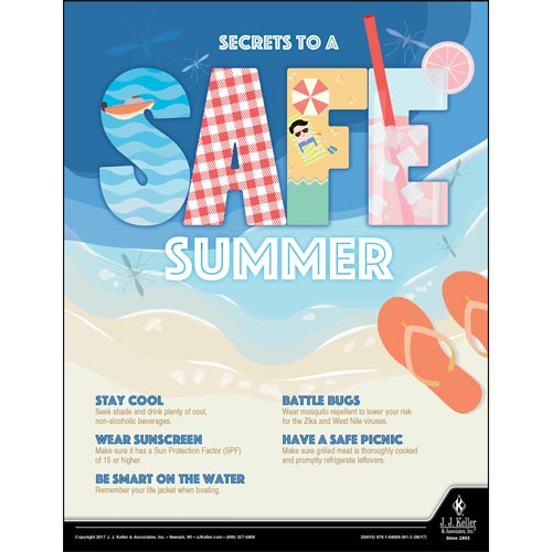 Safe Summer - Health & Wellness Awareness Poster (012334)