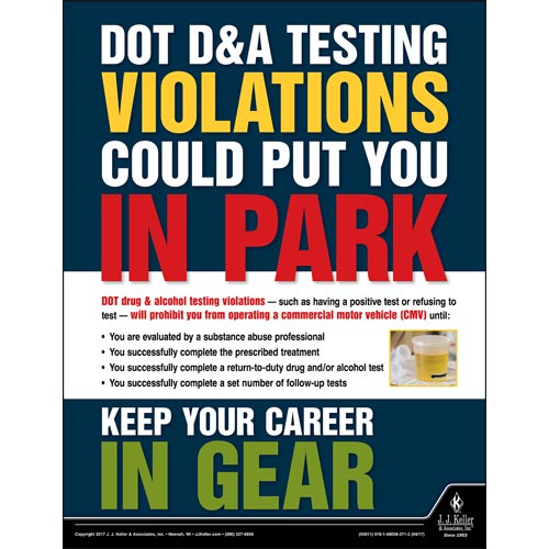 DOT D & A Testing Violations - Transport Safety Risk Poster (010878)