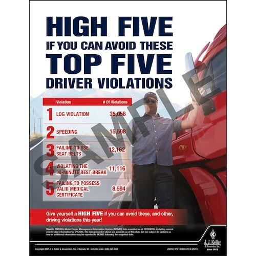 Driver Violations -  Transport Safety Risk Poster (012341)
