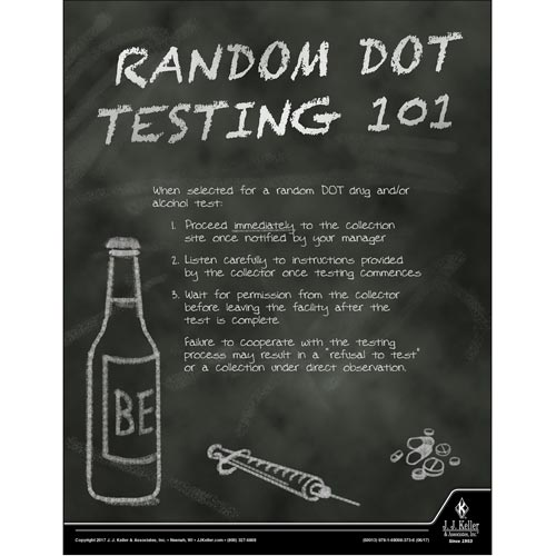 Random DOT Testing 101 - Transport Safety Risk Poster (012342)