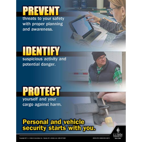 Personal And Vehicle Security Starts With You - Transportation Safety Poster (012351)