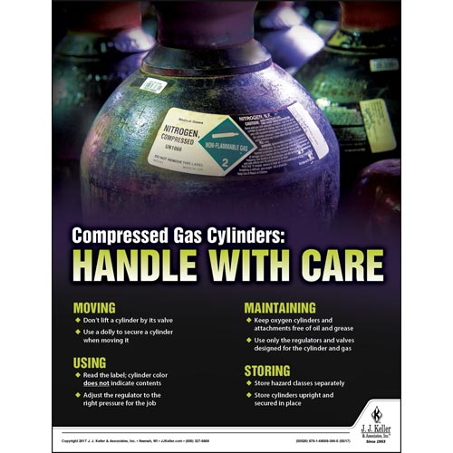 Compressed Gas - Workplace Safety Training Poster