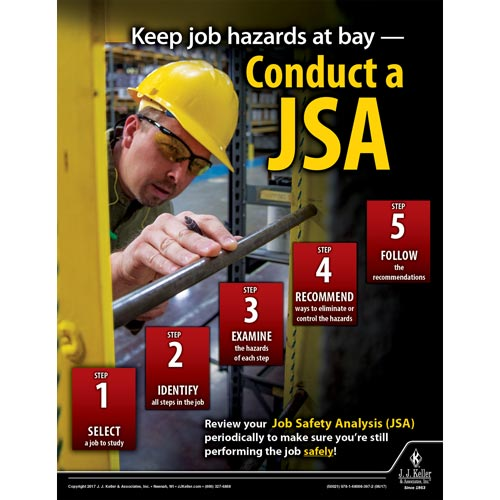 Keep Job Hazards At Bay - Workplace Safety Training Poster (012360)