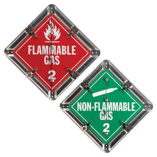 Aluminum Flip Placard - 2 Legend, Worded, Class 2, Unpainted Back Plate (012148)