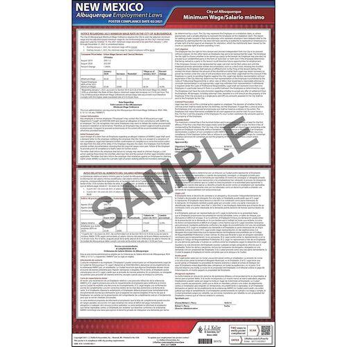 New Mexico / Albuquerque Minimum Wage Poster (08908)