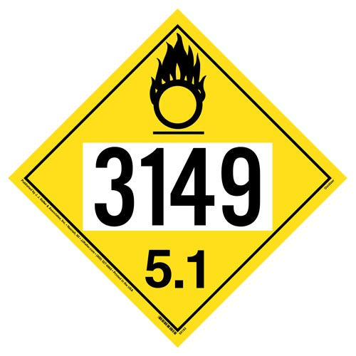 3149 Placard - Division 5.1 Oxidizer (012191)