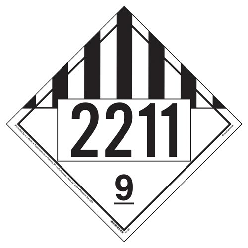 2211 Placard - Class 9 Miscellaneous (012192)