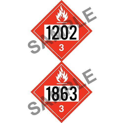 1202/1863 Placard - Class 3 Flammable Liquid (012197)