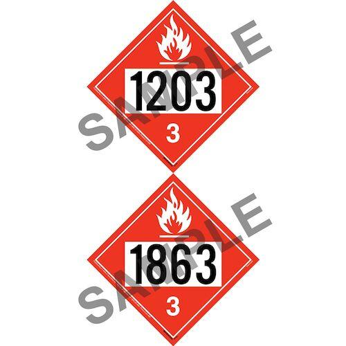 1203/1863 Placard - Class 3 Flammable Liquid (012198)
