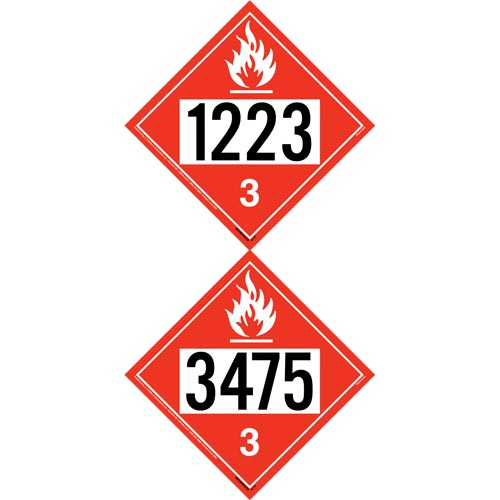 1223/3475 Placard - Class 3 Flammable Liquid (012200)