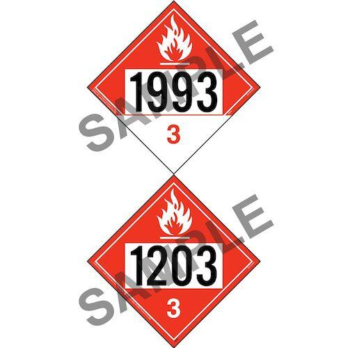 1203/1993 Placard - Class 3 Flammable Liquid (012201)