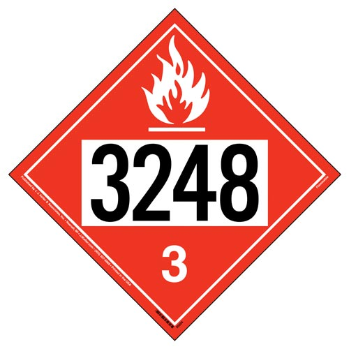 3248 Placard - Class 3 Flammable Liquid (012203)