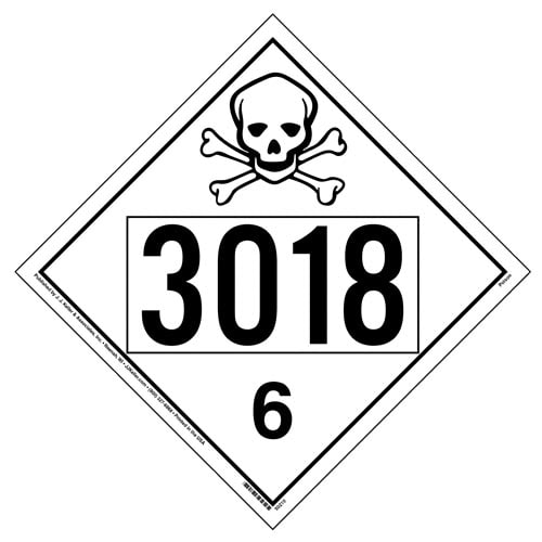 3018 Placard - Division 6.1 Poison (012208)