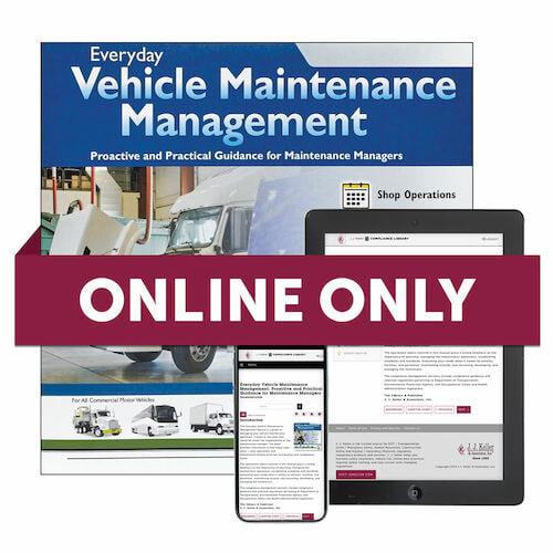 Everyday Vehicle Maintenance Management Online Edition (01499)