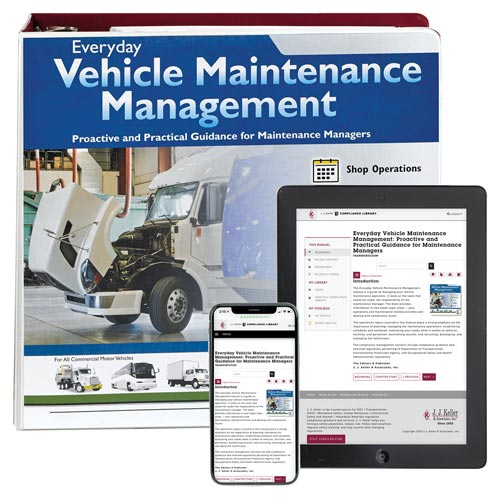 Everyday Vehicle Maintenance Management Manual (01499)