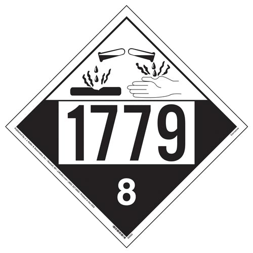 1779 Placard - Class 8 Corrosive (012292)
