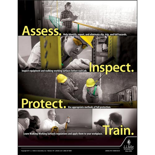 Walking-Working Surfaces: What Employees Need to Know - Awareness Poster (012312)