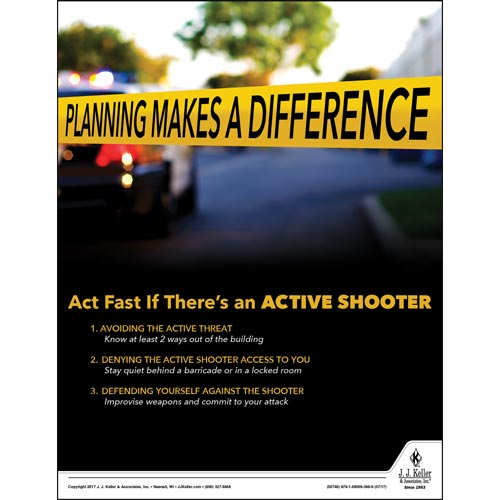 Active Shooter - Workplace Safety Training Poster (012361)