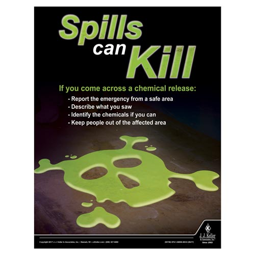 Spills can Kill -  Workplace Safety Training Poster (012363)