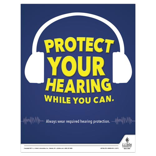 Protect Your Hearing While You Can - Workplace Safety Training Poster (012364)