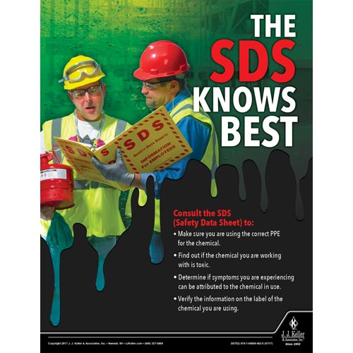 SDS Knows Best - Construction Safety Poster (010845)