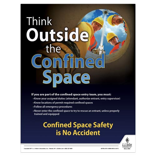 Confined Space - Construction Safety Poster (010848)