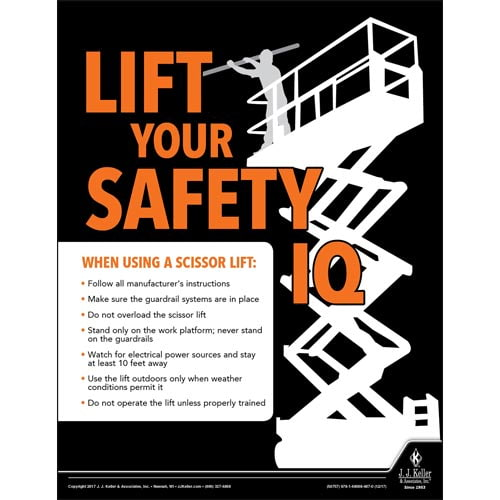 LIft Your Safety IQ -  Construction Safety Poster (010850)