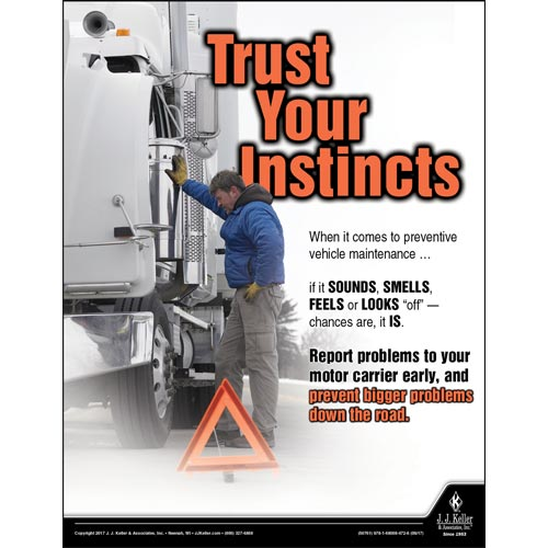 Trust Your Instincts - Driver Awareness Safety Poster (012228)