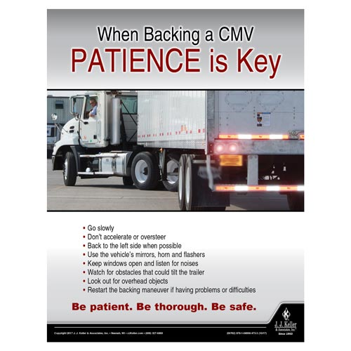 When Backing a CMV - Driver Awareness Safety Poster (012229)