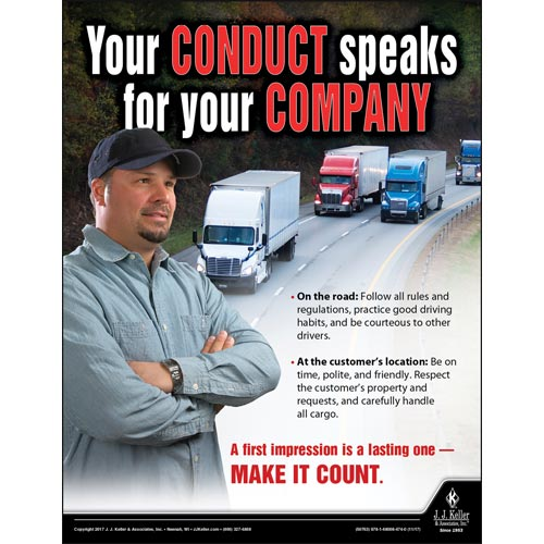 Your Conduct Speaks For Your Company - Driver Awareness Safety Poster (012230)