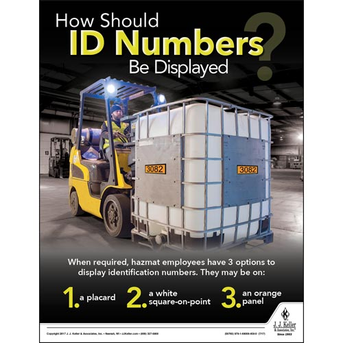 ID Numbers Displayed - Hazmat Transportation Poster (012235)
