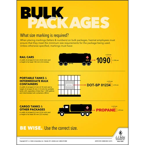 Bulk Packages - Hazmat Transportation Poster (012237)