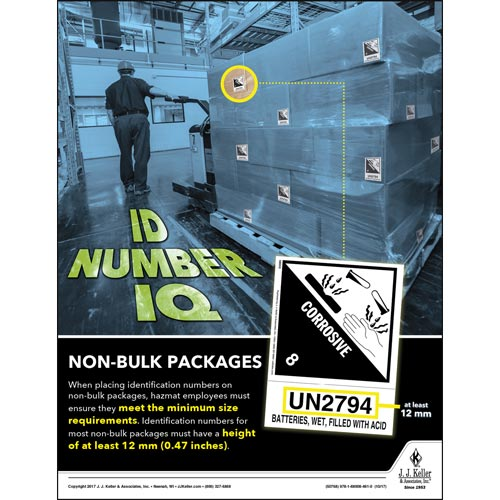 ID Number IQ - Non-Bulk Packages - Hazmat Transportation Poster (012238)