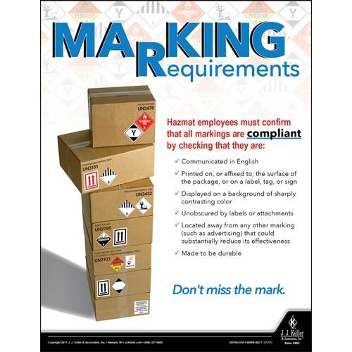 Marking Requirements - Hazmat Transportation Poster (012239)