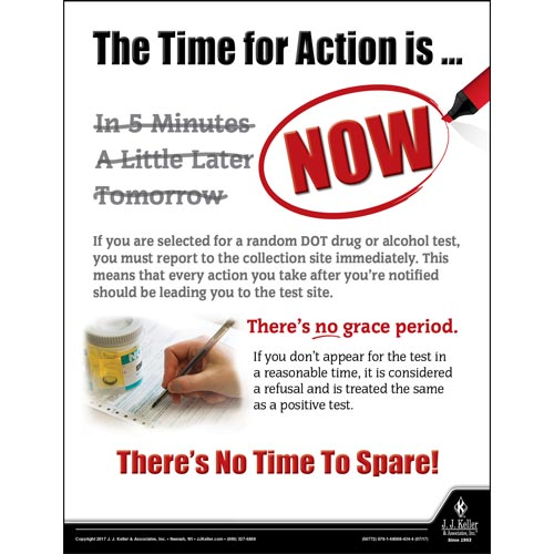 The Time For Action Is Now - Motor Carrier Safety Poster (012317)