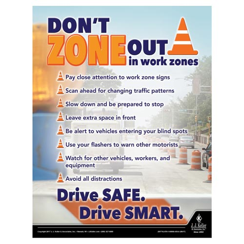 Work Zone - Motor Carrier Safety Poster (012319)