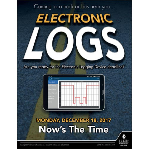 Electronic Logs - Motor Carrier Safety Poster (012320)