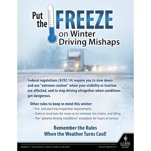 Winter Driving Mishaps - Motor Carrier Safety Poster (012321)