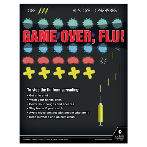Game Over, Flu - Health & Wellness Awareness Poster (012338)