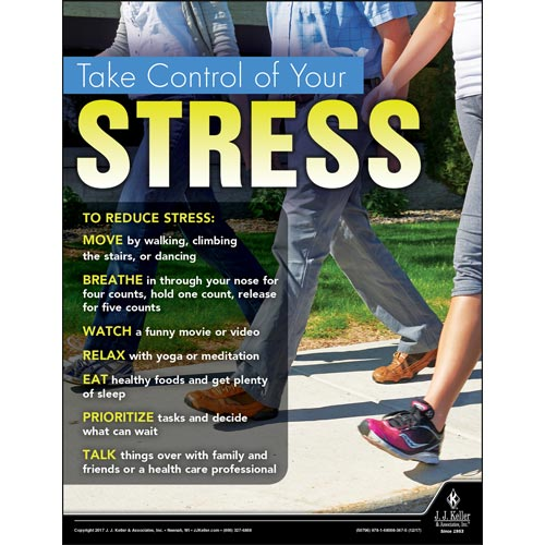 Take Control Of Your Stress - Health & Wellness Awareness Poster (012340)